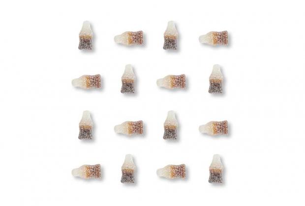Gomas Mini Garrafas de Coca-Cola Ácidas 250g
